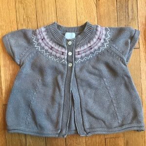 Cyrillus short sleeve cardigan top